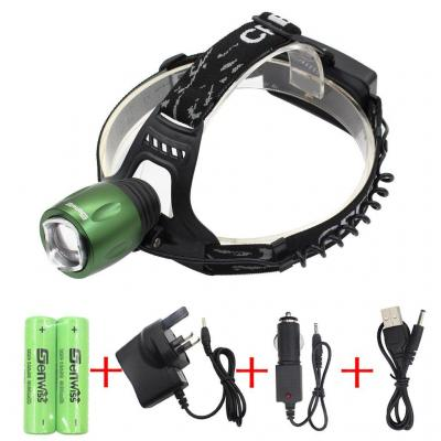 WolfWay 3000 Lumen Zoomable XM-L T6 Lampada Frontale a LED